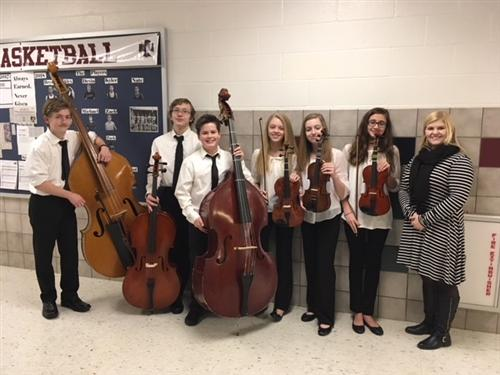 Students perform with Winter Festival Orchestra