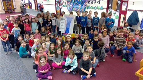 Kindergartners 100th Day of School