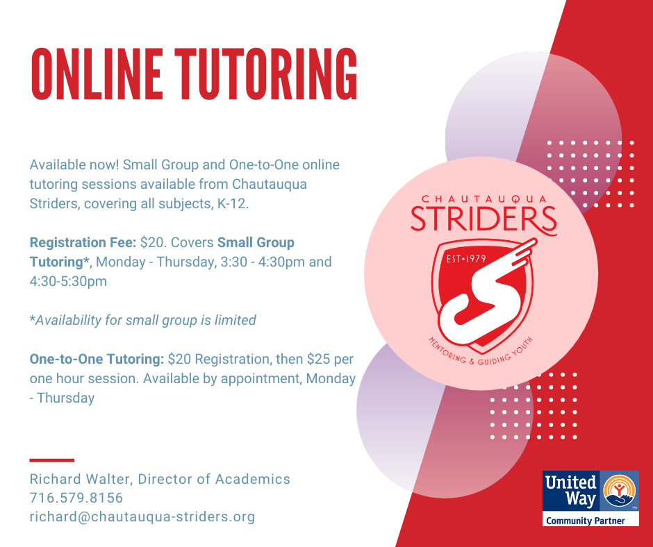 Chautauqua Striders Tutoring